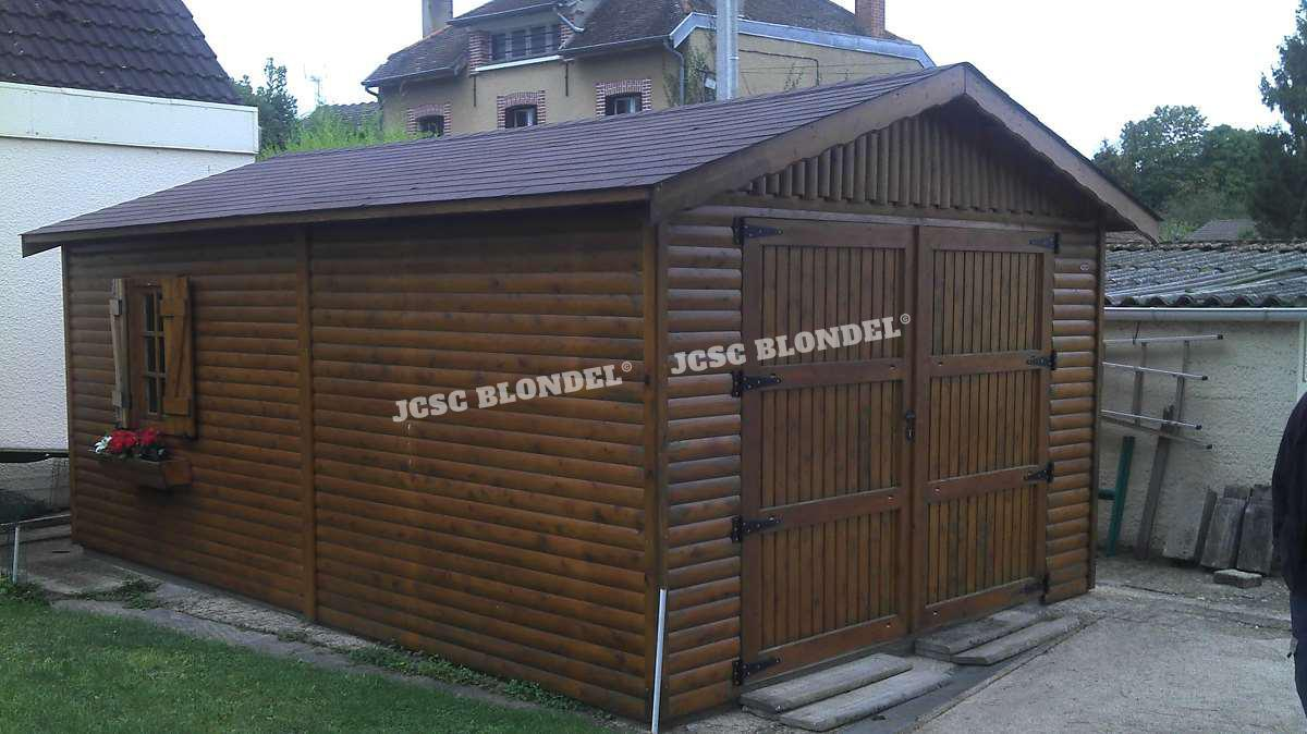 Abris de jardins 89 m tal charpente sur poteaux garages for Garage 4x4 seine et marne