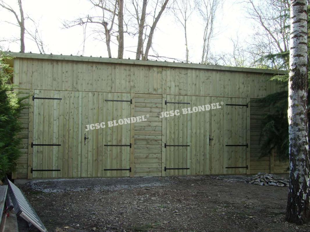 Abris de jardins 89 m tal charpente sur poteaux garages for Montereau fault yonne code postal
