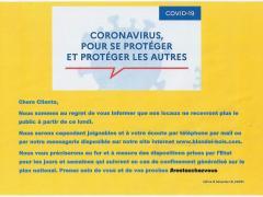 Mesures Exceptionnelles COVID-19